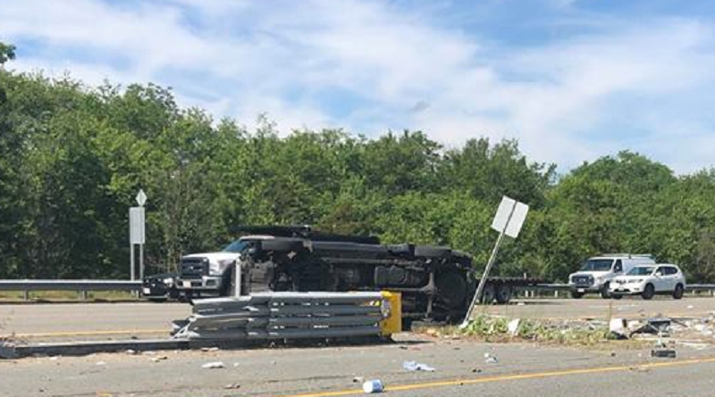 I-195 roll-over crash causes injury, delays – Fall River Reporter