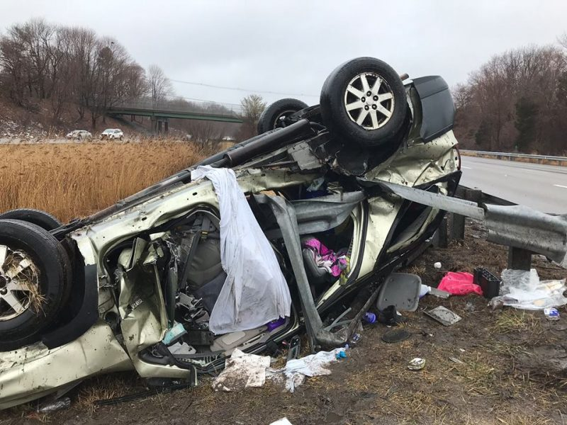 Four injured in I-195 rollover crash in Swansea – Fall River Reporter