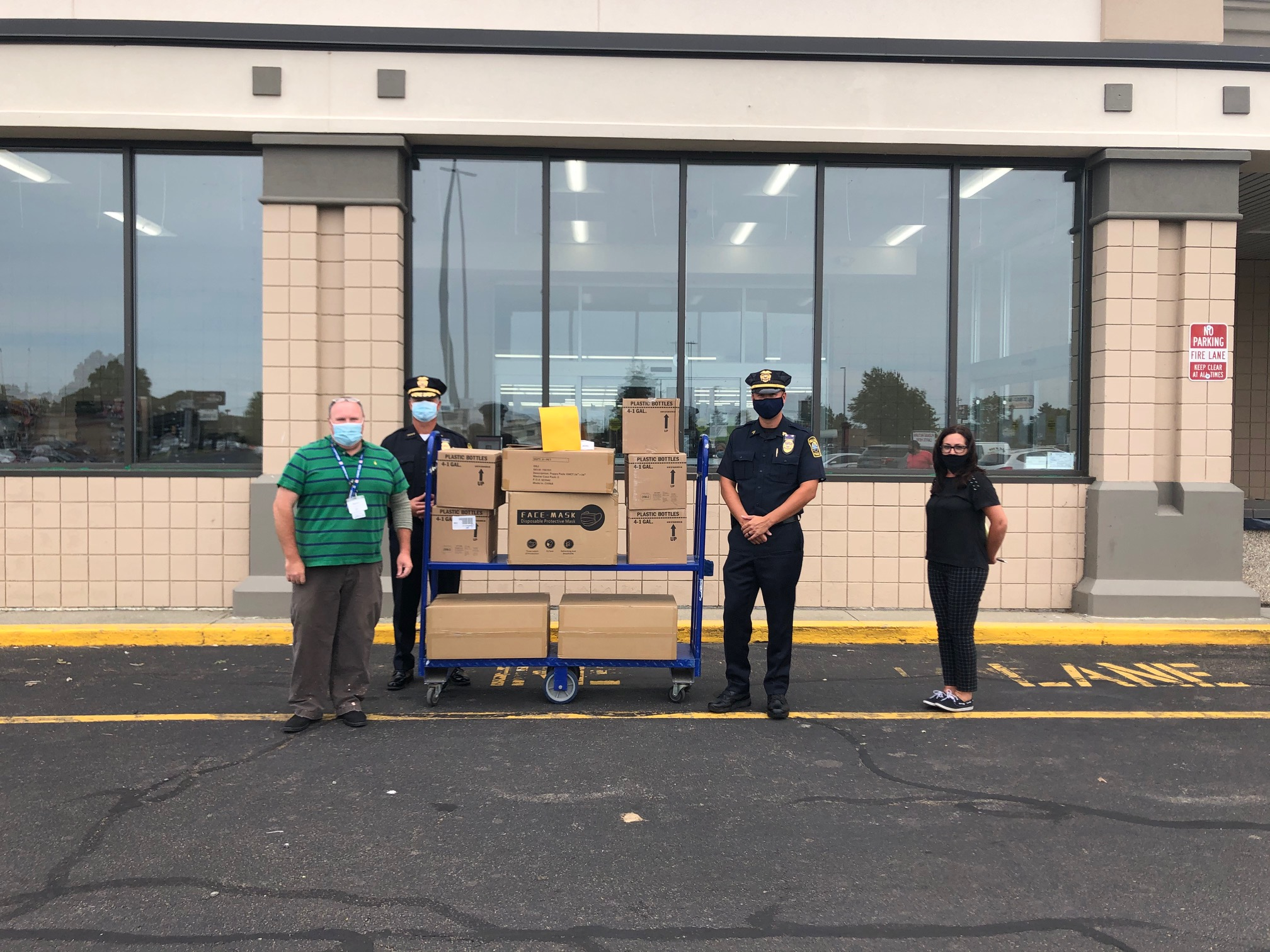 Retailer donates PPE to Fall River Police and other locations