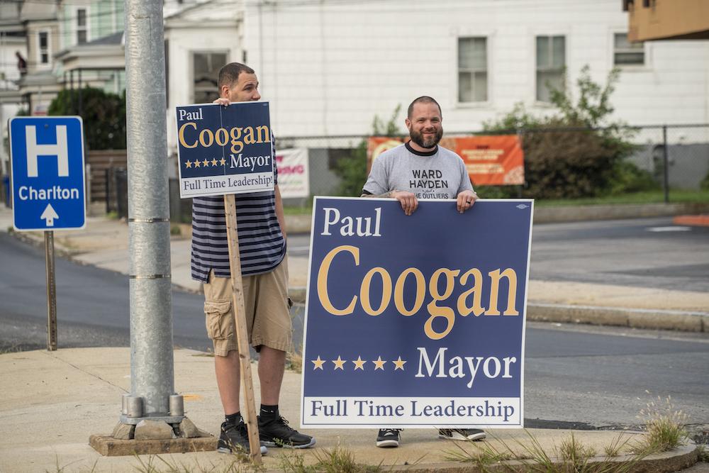 Fall River Paul coogan sign holders debate